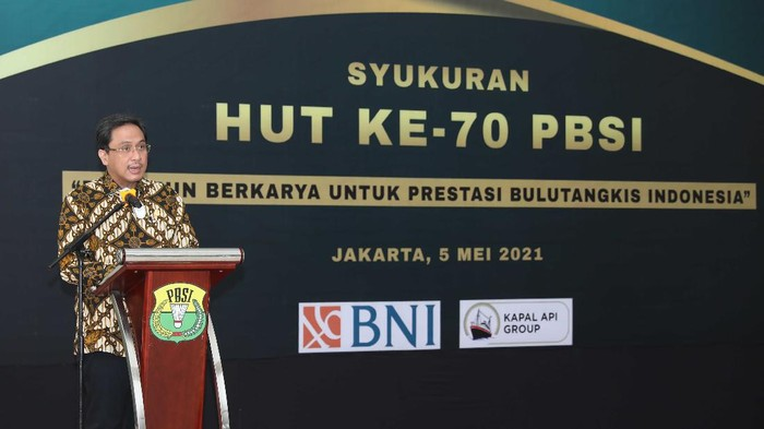 Ketum PBSI, Agung Firman Sampurna, mengumumkan 2 sponsor utama baru.