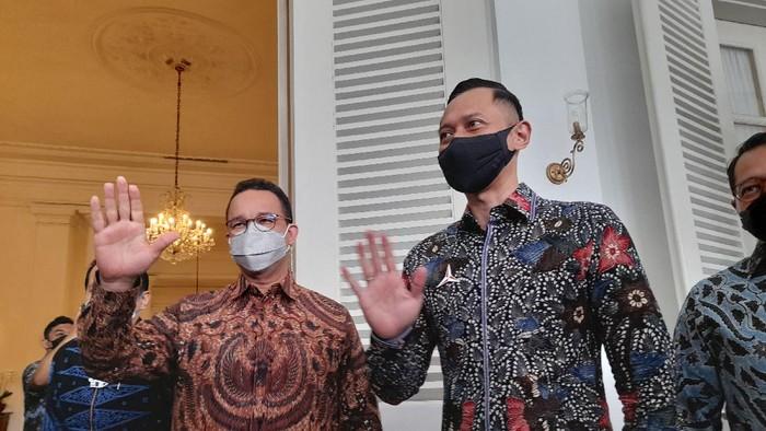 Anies Baswedan bertemu dengan AHY di Balai Kota DKI Jakarta, Kamis (6/5/2021).