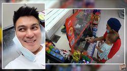 Salut! Baim Wong Bayari Setiap Orang yang Belanja di Minimarket