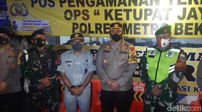 Foto: Kapolres Metro Bekasi Kota, Kombes Aloysius Suprijadi (Fathan/detikcom)