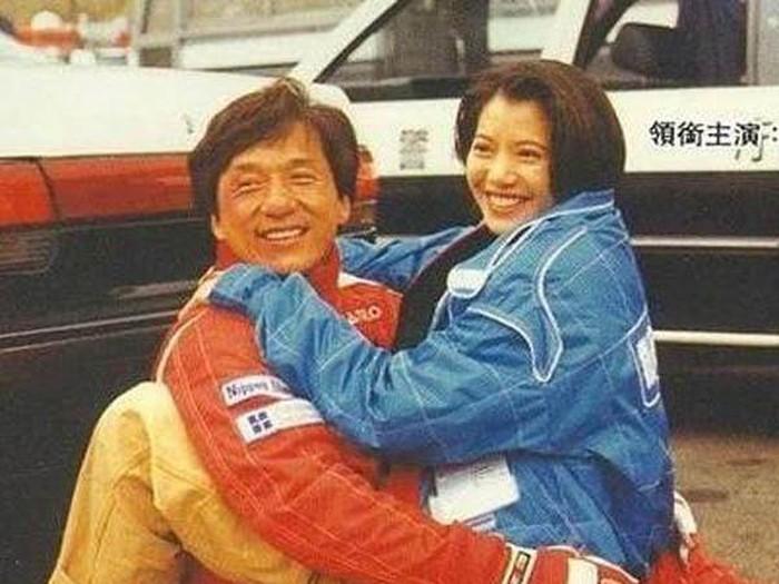 Jackie dan Anita saat syuting Thunderbolt