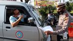 Mudik Disekat Kendaraan Luar Bandung Diputarbalik di Cibiru