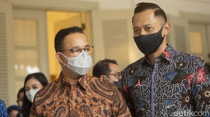 Ketua Umum Agus Harimurti Yudhoyono (AHY) menyebut pertemuan dengan Gubernur DKI Anies Baswedan sebagai nostalgia.