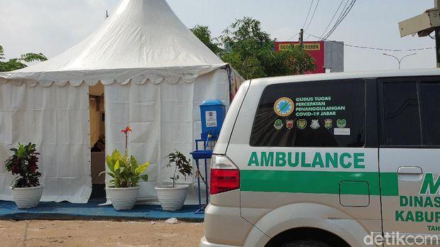 Pospam Terpadu Penyekatan Kedungwaringin, Kabupaten Bekasi