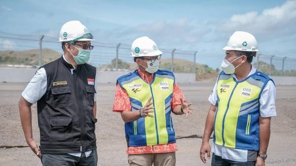 Dipaparkannya, pembangunan Sirkuit sepanjang empat kilometer itu sesuai rencana, sehingga diyakininya seluruh proses pembangunan dapat segera rampung pada Juli 2021 mendatang. dok.Kemenparekraf
