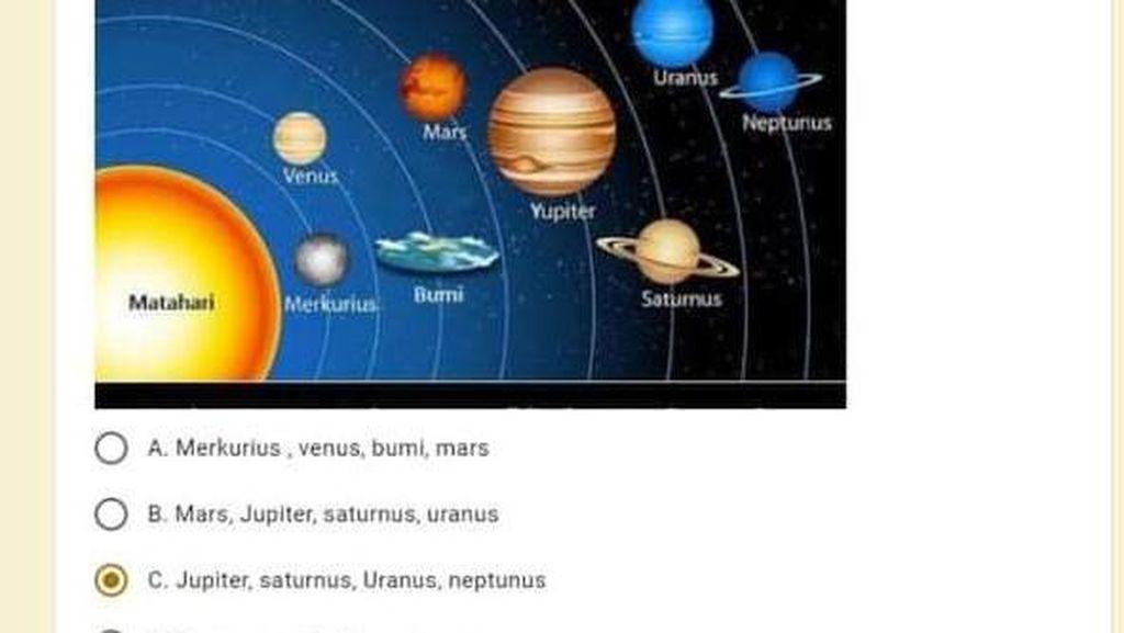 Viral Bumi Datar Masuk Ujian Sekolah SD, Ini Respon Kemendikbud Ristek