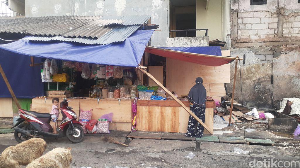 Suasana Pasar Kambing (Pasar Lontar/Pasar Kebon Melati), Tanah Abang, Jakarta Pusat, 6 Mei 2021. (Afzal Nur Iman/detikcom)