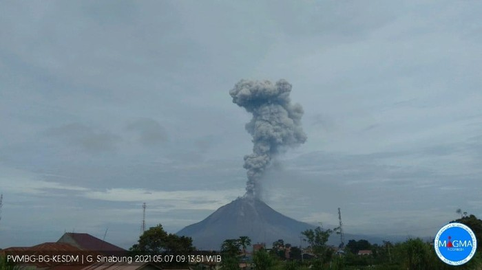 Gunung Sinabung, Sumut, mengalami erupsi (Dok istimewa)