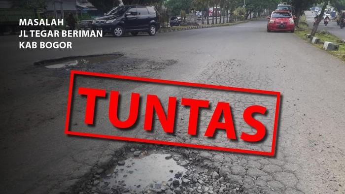 Lubang di Jl Tegar Beriman Kab Bogor Tuntas