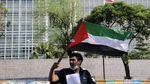 Potret Aksi Hari Al Quds Internasional di Seberang Kedubes AS