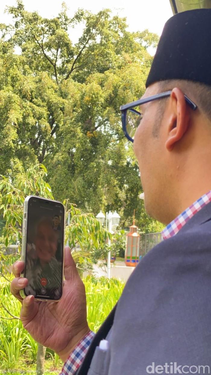 Ridwan Kamil Video Call Ganjar bahas pembangunan Masjid Akbar Seribu Bulan