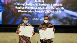 Sinergi BRI-BKPM Permudah UMKM Urus Perizinan dan Akses Permodalan