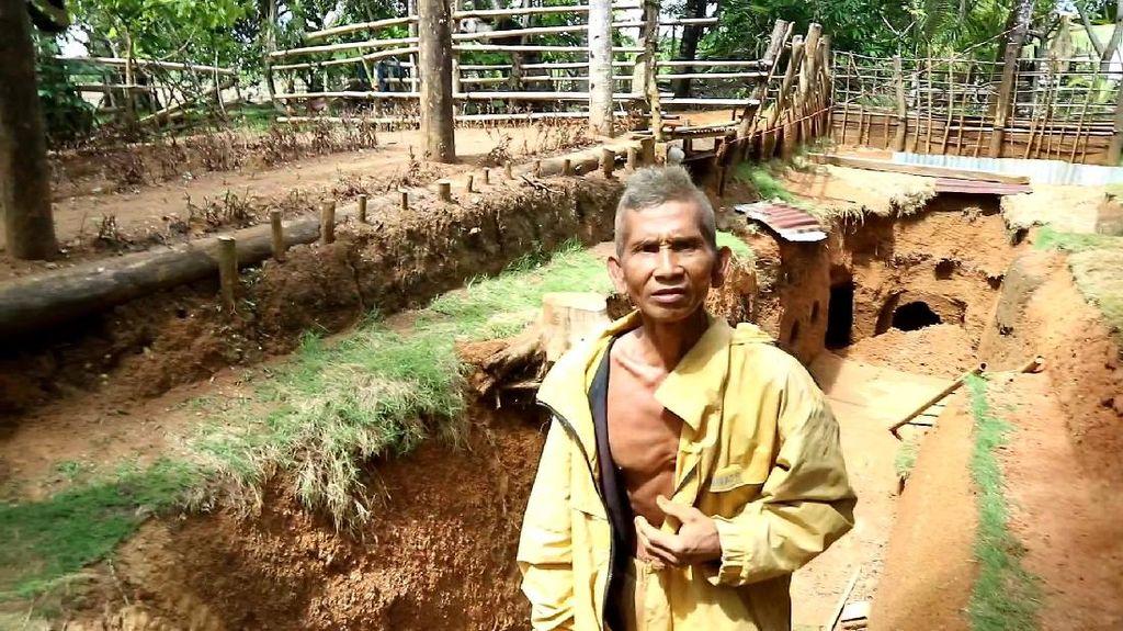 Perkenalkan! Ini Kakek Pembuat Rumah Bawah Tanah Bermodal Cangkul di Sulsel
