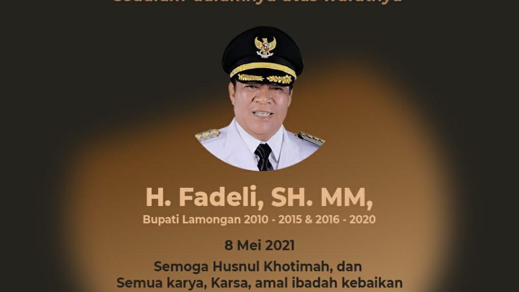 Mantan Bupati Lamongan Fadeli Wafat Usai 2 Pekan Dirawat di RSHU Surabaya