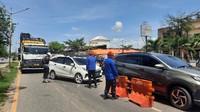 Diduga Pungli, Petugas Penyekatan Arus Mudik di Palembang Diperiksa Paminal