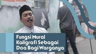 Seorang RW Mendoakan Warganya Melalui Mural Kaligrafi di Gang