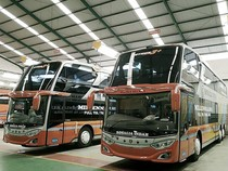 Mudik Dilarang, PO Rosalia Indah Rilis 4 Bus Tingkat Baru Buatan Adiputro