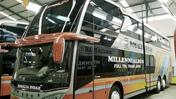 Melihat Lebih Dekat Bus Tingkat Terbaru PO Rosalia Indah