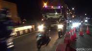Pemudik Motor Padati Jalur Pantura Subang