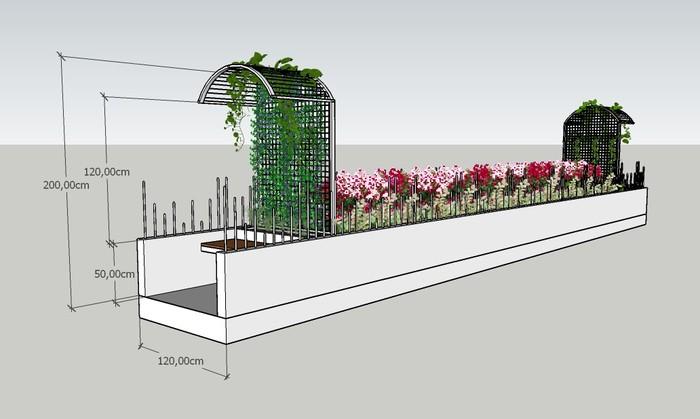 Desain Taman Jembatan Persatuan di Jembatan Kota Paris sebagai solusi mengatasi tawuran. (Dok Dinas Pertamanan dan Hutan Kota DKI Jakarta)