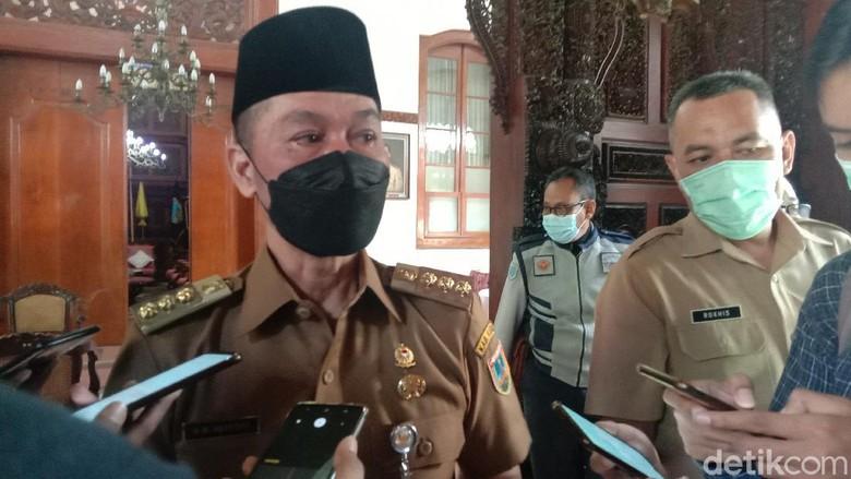 Bupati Kudus HM Hartopo ditemui di Pendapa Kabupaten Kudus, Senin, (10/5/2021)