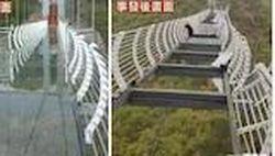 Jembatan Kaca di China Hancur, Wisatawan Terjebak di Tengahnya