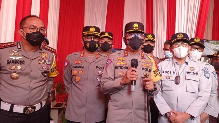 Kakorlantas Irjen Istiono di Kedungwaringin, Bekasi, Jawa Barat (Wilda-detikcom)