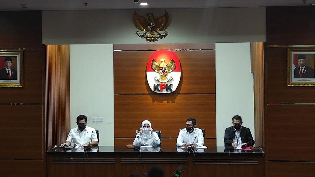 Posisi Foto Jokowi-Maruf Berubah Lagi di Ruang Jumpa Pers KPK