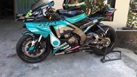Bukan M1 Valentino Rossi, Ini Yamaha Vixion yang Dimodif ala Motor MotoGP