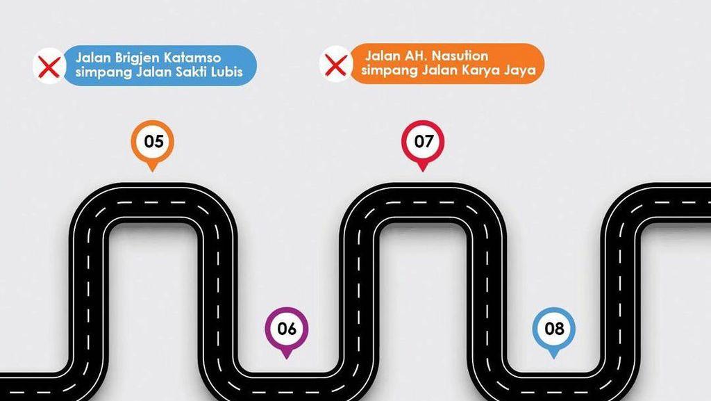 Catat! 32 Titik Jalan di Medan Ditutup Saat Malam Takbiran