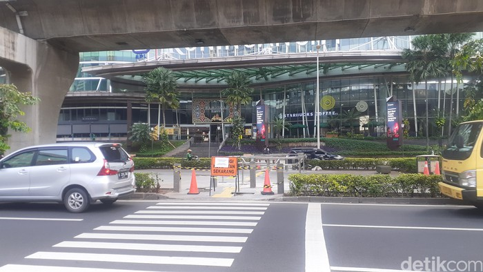 Portal S di Jl Prof Dr Satrio, Kuningan, Jakarta Selatan. (Afzal Nur Iman/detikcom)