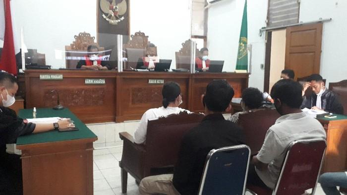 Sidang pleidoi kasus kebakaran gedung Kejagung (Dwi Andayani-detikcom)