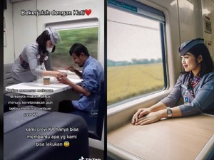 Aksi Pramugari Kereta Bantu Makan Penumpang Tunanetra, Ini Kisahnya