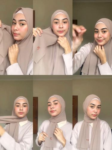 Tutorial hijab untuk Hari Idulfitri 2021.