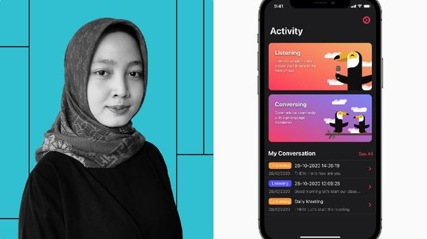 Aisyah Widya Nur Shadrina pengembang aplikasi Hearo