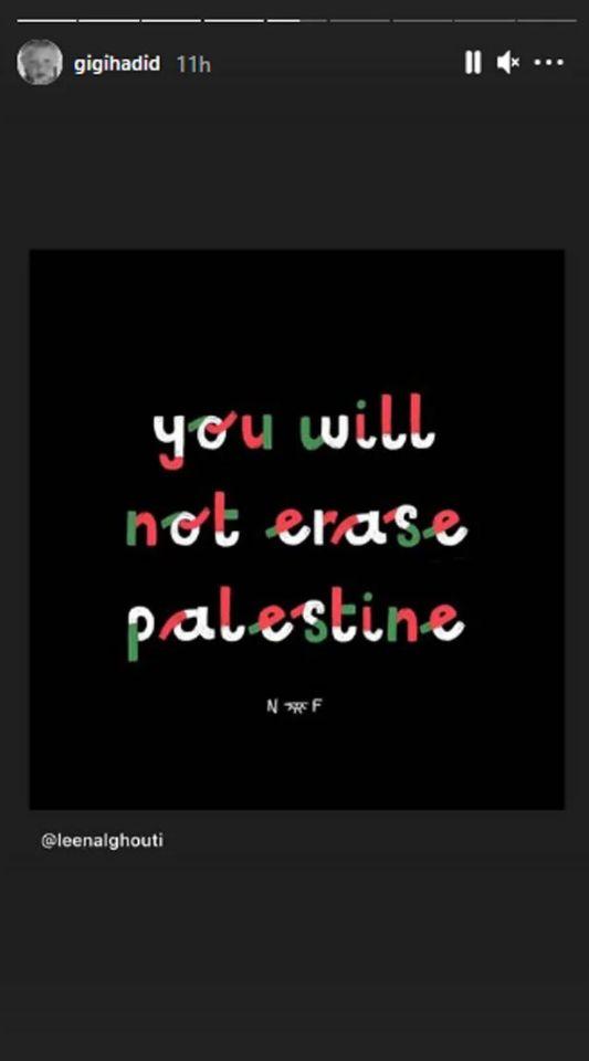 Dukungan Gigi Hadid Terhadap Palestina