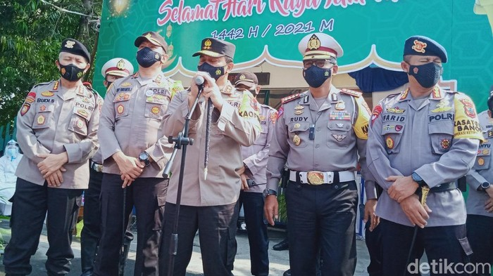 Kapolda Jateng pantau pos penyekatan di Klaten, 12/5/2021