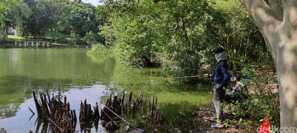 Banyak traveler yang pergi memancing di Kawasan Ekowisata Mangrove PIK ini.