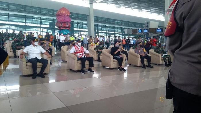 Menhub, Ketua DPR hingga Panglima TNI dan Kapolri Tinjau Larangan Mudik di Bandara Soetta