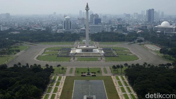 Begini suasana Monumen Nasional, Jakarta, Rabu (12/5/2021).