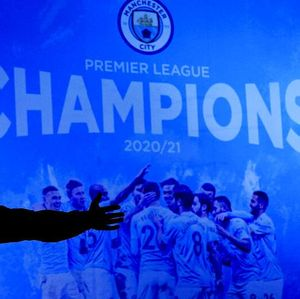 Foto: Selebrasi Fans Man City sang Juara Premier League