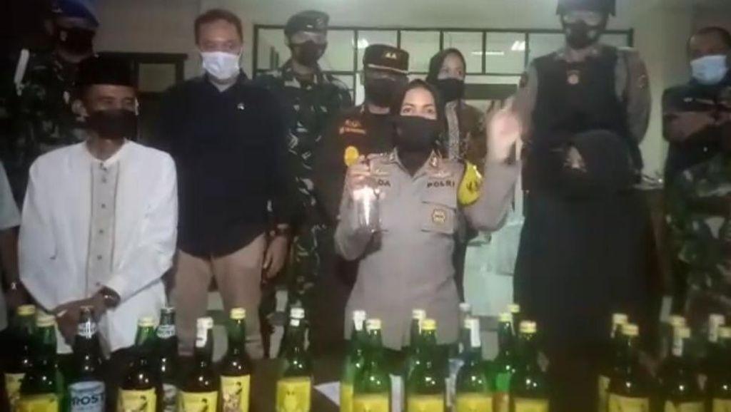Malam Takbiran, Polres Banjar Amankan Ribuan Botol Miras
