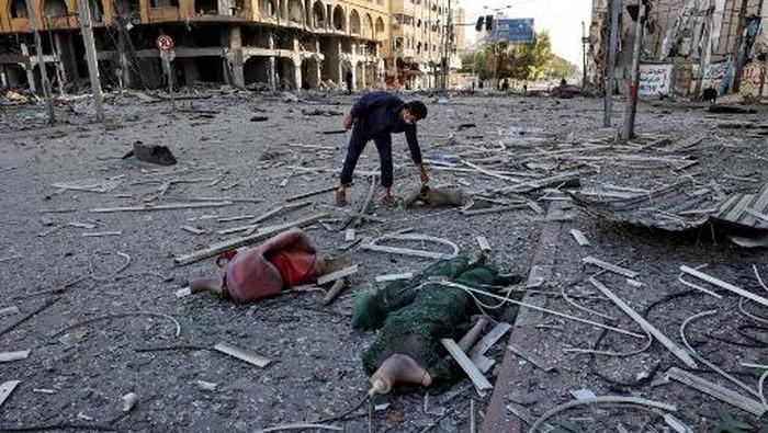 Serangan udara Israel ke Gaza (AFP/MAHMUD HAMS)