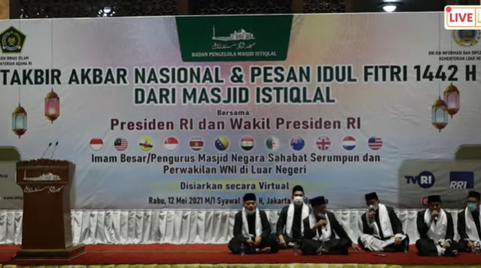 Takbir Nasional Virtual Masjid Istiqlal (Dok. Akun youtube Masjid Istiqlal TV)