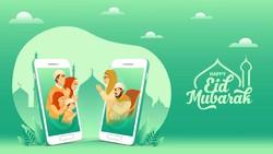 Link, Template, Cara Buat dan Download Twibbon Kartu Ucapan Selamat Lebaran