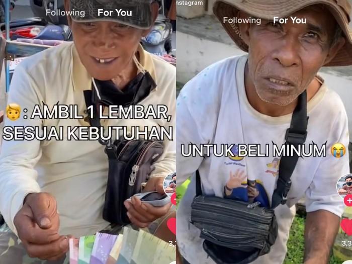Video TikTok viral, ambil satu lembar uang sesuai kebutuhan.