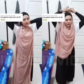 Viral hijabers yang membuat video tutorial hijab.