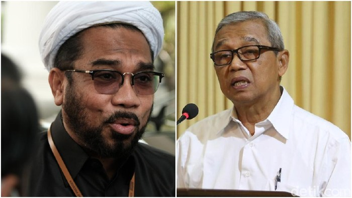 Ali Mochtar Ngabalin dan Busyro Muqoddas (Repro detikcom)
