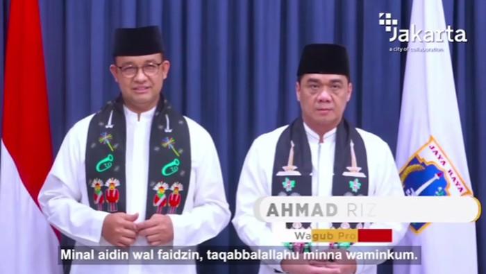 Gubernur DKI Jakarta, Anies Baswedan dan Wagub DKI Jakarta, Ahmad Riza Patria (Screenshot Instagram Riza Patira)