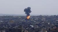 Kantor Berita AP dan Al Jazeera di Gaza Roboh Diserang Rudal Israel